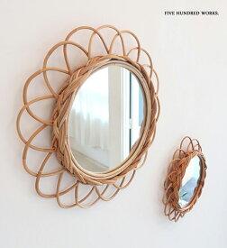 アラログフラワーミラーS(壁掛けミラー) 500WORKS.壁掛け ミラー アンティーク 卓上 鏡 おしゃれウォール 壁面 北欧 AROROGSTORAG Creer/クレエ mirror
