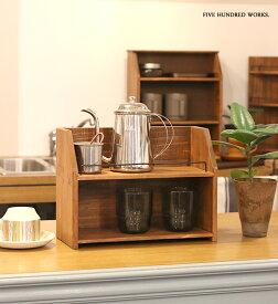 キッチンスパイスラックS(木製家具) / 3/5再入荷後発送 / 500WORKS. おしゃれ 木製 アンティーク 調味料入れ カウンター上 収納 北欧 Creer/クレエ