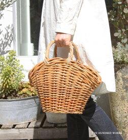\着後レビュー★プレゼントキャンペーン中/ アラログ NINA'S BAG Lサイズ (ニーナズバッグ) 500WORKS. ラタン かごバッグ ファー かわいい 持ち手 天然素材 アンティーク AROROGBAG Creer/クレエ WPL