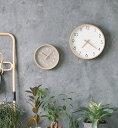 【公式】キャンパス ウォールクロック Lサイズ(CAMPAS) ホワイト/グレイ掛け時計 壁掛け 時計 北欧おしゃれ 木製 音が…