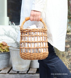 アラログ 透かし編みラウンドバッグ (THE AROROG) 500WORKS. ラタン かごバッグ かわいい 籠 天然素材 アンティーク AROROGBAG Creer/クレエ WPL