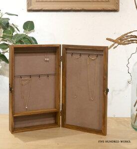 【公式】アクセサリーケース ミラー(木製)500WORKS.収納 店舗什器 ボックス 木製 アクセ ジュエリー マルチ ケース Creer/クレエACCESSORYCASE IGF