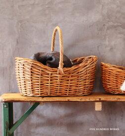 \着後レビュー★プレゼントキャンペーン中/ アラログボートバスケット (Lサイズ) 500WORKS. ラタン AROROGSTORAGE Creer/クレエおしゃれ 北欧 WPL IGF
