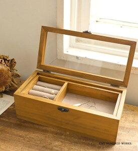 アクセサリーミニケース(木製家具) 500WORKS.コレクションケース 収納 BOX 木製 アンティーク Creer/クレエ ACCESSORYCASE