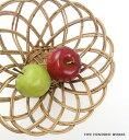 THE AOROROG 果物 かご フルーツバスケット 籠 籐 (SSサイズ) おしゃれ 北欧 500WORKS.アラログ丸かご (アラログ) ARO…