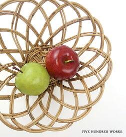 THE AOROROG 果物 かご フルーツバスケット 籠 籐 (SSサイズ) おしゃれ 北欧 500WORKS.アラログ丸かご (アラログ) AROROGSTORAGE Creer/クレエ