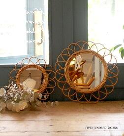 アラログフラワーミラーS(壁掛けミラー)500WORKS.壁掛け ミラー アンティーク 卓上 鏡 おしゃれウォール 壁面 北欧 AROROGSTORAG Creer/クレエ mirror