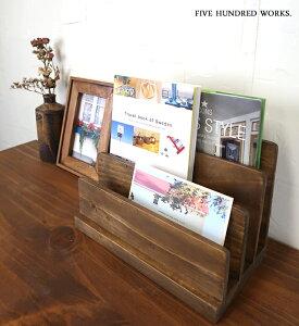 【公式】WOODホンタテ(木製雑貨)500WORKS.木製 本立て ブックスタンド 卓上 ブックエンド おしゃれ(ブラウン)本棚 ディスプレイ Creer/クレエ