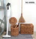 アラログフタ付きラウンドバスケット(Lサイズ) 掃除収納 かご おしゃれ 500WORKS.北欧 AROROGSTORAGE 人気 THE AROROG…