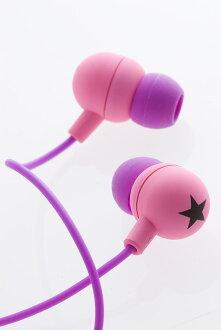 Inner ye von inner headhphones STAR-PK/BK - accessories and sneaker sense on wearing! mix-style earphones enjoy as accessories!