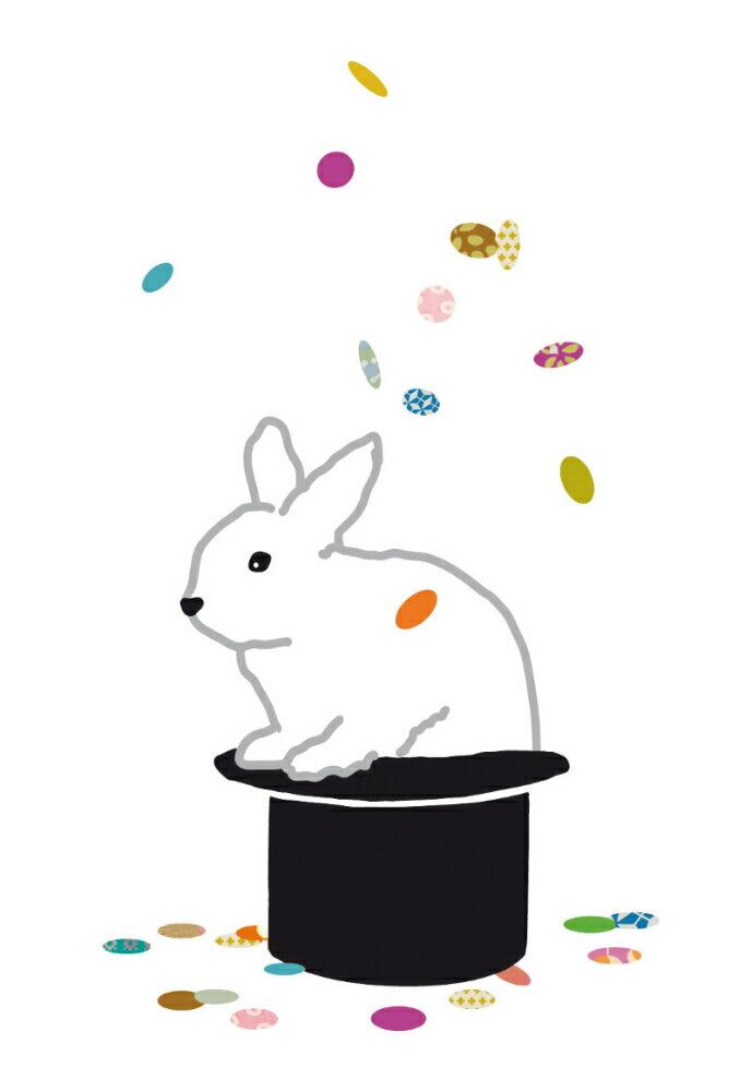 [MIMI 'low / ミミ・ルゥ] 布地用アイロン転写ステッカー(アップリケ) / ウサギ【メール便(ゆうパケット)送料無料】