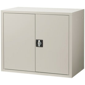 スチール書庫 本棚 2段 扉付き 鍵付き A3 グレー 棚板耐荷重50kg 抗菌 トルコ製