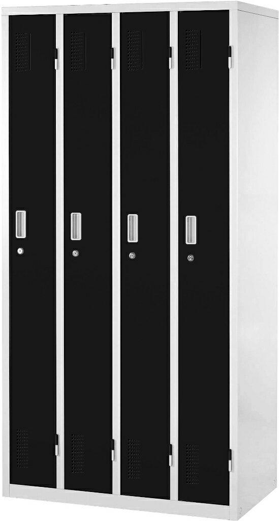 【送料無料】スチールロッカー | ロッカー オフィスロッカー OAスチールロッカー 更衣ロッカー カラーロッカー ワードローブ オフィス家具 おしゃれ かぎ付き 鍵 鍵付き 4人用 幅90cm 幅900mm カラー扉 棚付き 業務用 学校 施設 事務所 更衣室 スチール製