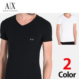 なんと【ポイント5倍!!】9/24(火)1:59までアルマーニエクスチェンジ メンズ 半袖 Tシャツ Vネック A/X ARMANI EXCHANGE ブラック ホワイト XL有り 正規輸入品 ax629