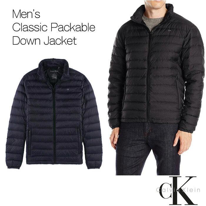 カルバン・クライン【Calvin Klein】メンズダウンジャケット 黒 ブラック(ck337)