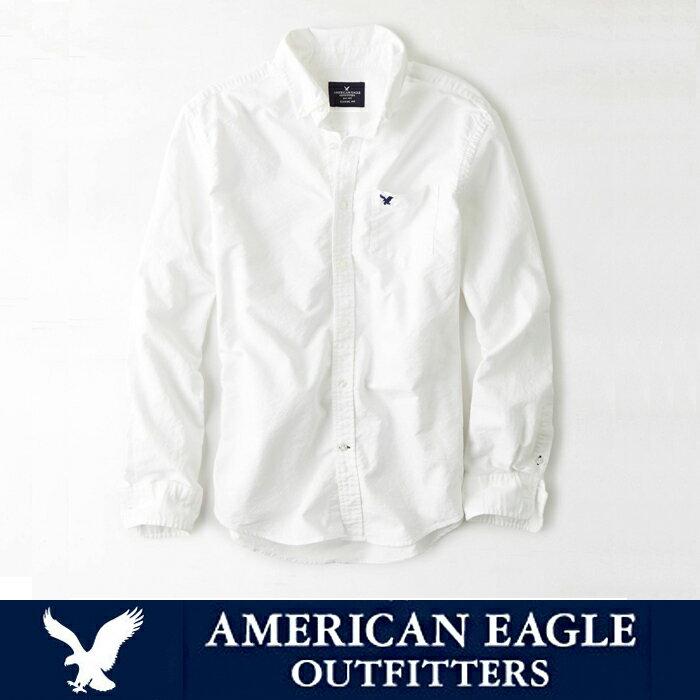 3/24(土)10時よりエントリーするだけでポイント10倍!アメリカンイーグル メンズ カジュアル シャツAE SHIRT・メンズ長袖 白シャツ ボタンシャツ ae1700