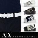 【ARMANI EXCHANGE】A/X アルマーニ・エクスチェンジMENS BELT/ レザーベルト 正規(ax415)白・ホワイト・黒・ブラック