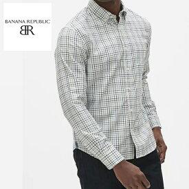 バナリパ BANANA REPUBLIC バナナリパブリック メンズ チェック 長袖シャツ ba376