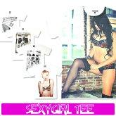 【ゆうパケット送料無料】メンズロック半袖TシャツsexygirlセクシーガールTeese01
