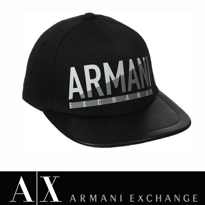 【A/X】アルマーニ・エクスチェンジ・ユニセックスARMANI EXCHANGE 正規キャップ ハット 帽子ax628 ブラック アメリカ正規品