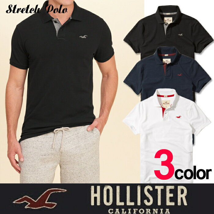 アメリカ正規入荷 Hollister Co. ホリスターメンズ 半袖 ワンポイントポロシャツ h1400
