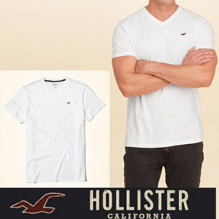 Hollister Co.ホリスター VネックTシャツ h1432 ホワイト アメリカ正規入荷