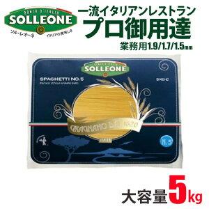 イタリア産 ソル・レオーネ パスタ 50人前 SOLLEONE  5000g 5kg 選べる3種類 業務用 送料無料 sol06 スパゲティ