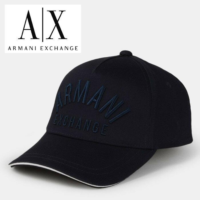 A/X アルマーニ・エクスチェンジ・ユニセックス ARMANI EXCHANGE 正規 キャップ ハット 帽子 ax651 ネイビー