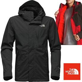 米国正規品 ノースフェイス THE NORTH FACE メンズ 3WAY ダウンジャケット Mountain Light Triclimate Hooded Jacket fa44 Black/Red (並行輸入品)