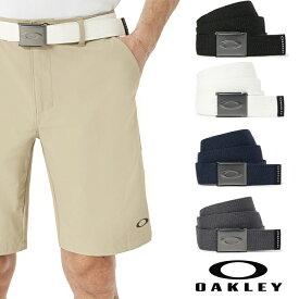 OAKLEY オークリー Mens HOakley Ellipse Web Belt 96185 バックルベルト ホワイト ブラック フリーサイズ 大きめ対応 oa256