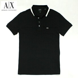 アルマーニエクスチェンジ メンズ 半袖 ポロシャツ A/X ARMANI EXCHANGE USA正規品 ax683 ブラック