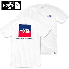 THE NORTH FACE ザ・ノースフェイス 半袖 ロゴ プリント Tシャツ USAモデル アメリカーナ fa62 ホワイト