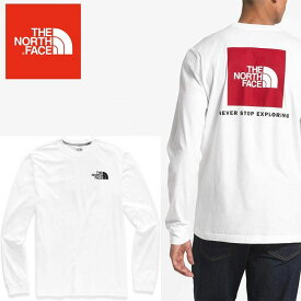 THE NORTH FACE ロンT ノースフェイス 長袖 ロゴ プリント ロングTシャツ USAモデル XL fa67 ホワイト 白