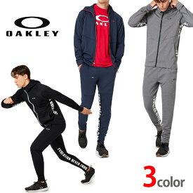 オークリー セットアップ トレーニングウエアー 上下 ジャージ 速乾 吸汗 OAKLEY Enhance Grid Fleece XLサイズ有り oa311 ブラック グレー ネイビー