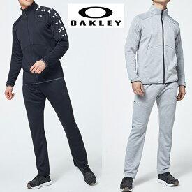 オークリー セットアップ トレーニングウエアー ジャージ 速乾 吸汗 OAKLEY Enhance Tech Jersey Jacket 10.0 XLサイズ有り oa319 ブラック グレー