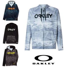 オークリー ラッシュ フーディー パーカー 長袖 UVカット 水着 海水浴 ホワイトプリント OAKLEY RASH 大きめ oa323