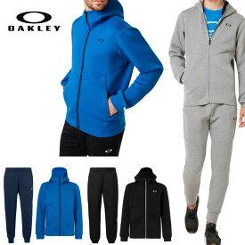 オークリー セットアップ トレーニングウエアー スウェット ジャージ 速乾 防風 撥水 反射材 OAKLEY Enhance QD Fleece XLサイズ有り oa314 ブラック グレー ブルー