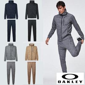 オークリー セットアップ トレーニングウエアー スウェット ジャージ 速乾 反射材 UPF50+ OAKLEY Enhance Grid Fleece Jacket/Pants XLサイズ有り oa368