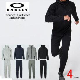 オークリー セットアップ トレーニングウエアー スウェット ジャージ 速乾 反射材 UPF50+ OAKLEY Enhance Dual Fleece Jacket/Pants 1.7 上位モデル XL XXL oa369