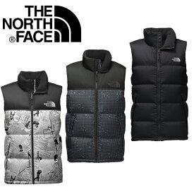 ノースフェイス ダウン ベスト TheNorthFace Nuptse Down Vest fa03 ブラック カモフラ USAより並行輸入品