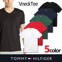 【TOMMY HILFIGER】トミーヒルフィガーメンズ Vネック Tシャツ t397 レッド ブラック ネイビー ホワイト グリーン