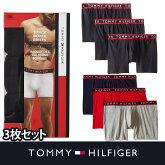 【TOMMYHILFIGER】トミーヒルフィガーメンズ下着ボクサーパンツネイビーグレーレッド3枚セットt425