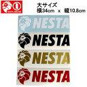 【NESTA BRAND】ネスタブランド New横ステッカー大サイズ/34cm×10.8cm/ホワイト・ブラック・ゴールド・レッド【あす楽対応】