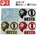 【NESTA BRAND】ネスタブランド New横ステッカー大サイズ/23cm×17.3cm/ホワイト・ブラック・ゴールド・レッド【あす楽対応】