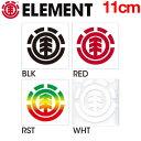 【ELEMENT】エレメント ロゴカッティングステッカー シール/約11cm/4カラー【あす楽対応】