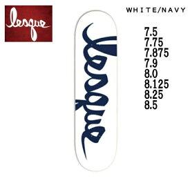 【LESQUE】レスケTEAM Logo NAVY スケートボード スケート デッキ SKATE DECK SK8 スケボー 板 7.5/7.75/7.875/7.9/8.0/8.125/8.25/8.5【正規品】【あす楽対応】