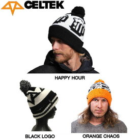 【CELTEK】セルテック 2014-2015 Logo Pom Beanie メンズ ニット帽 ビーニー スノーボード 帽子 3カラー