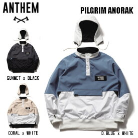 【ANTHEM】アンセム 2020-2021 PILGRIM ANORAK メンズ アノラック パーカー プルオーバー スノージャケット スノーウェア S/M/L/XL 3カラー【あす楽対応】