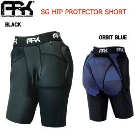 【ARK】エーアールケー 2018-2019 SG HIP PROTECTOR SHORT 男女兼用 キッズ ユニセックス ヒッププロテクター ショート スノーボード XXS・XS BLACK