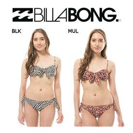【BILLABONG】ビラボン2018春夏 SURF CAPSULE SUN TRIBE KNOT ME レディースバンドゥビキニ リバーシブル スイムウェア 水着 M・L BLK MUL